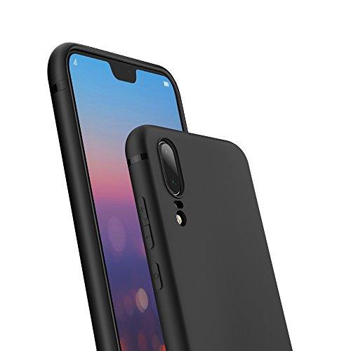 EasyAcc Huawei P20 Hülle Case, Schwarz TPU Telefonhülle Matte Oberfläche Handyhülle Schutzhülle Schmaler Telefonschutz für das Huawei P20 5.8'' - 4