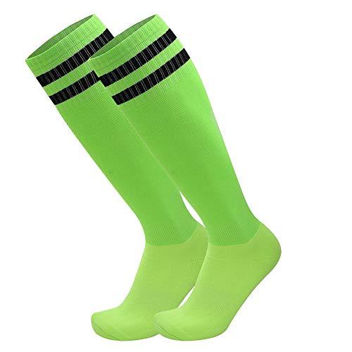 Soccer Socks, Sportsocken / Kniestrümpfe, unisex, gestreift, für Football / Fußball / Hockey, für Erwachsene , 2er-Packung ,Größe 39-44