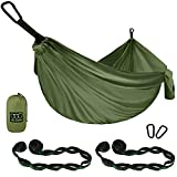 Gold Armour Camping Hammock - Extra Large Double Parachute Hammock USA Based Brand Lightweight Nylon...