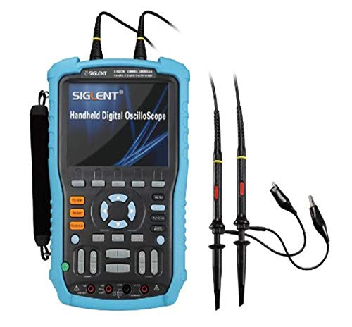 Siglent Technologies SHS820 Handheld Oscilloscope, 200MHz, 2-Channel, Multimeter Mode, 5.7'' TFT-LCD...