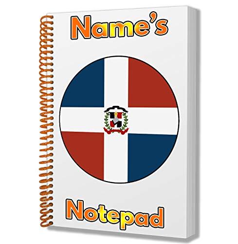 Gepersonaliseerd geschenk - Dominicaanse Republiek Vlag A5 Kladblok/notitieboekje - Cadeau - Verjaardag - Kerstmis - Kachelvuller - Geheime Kerstman - ADD elke naam