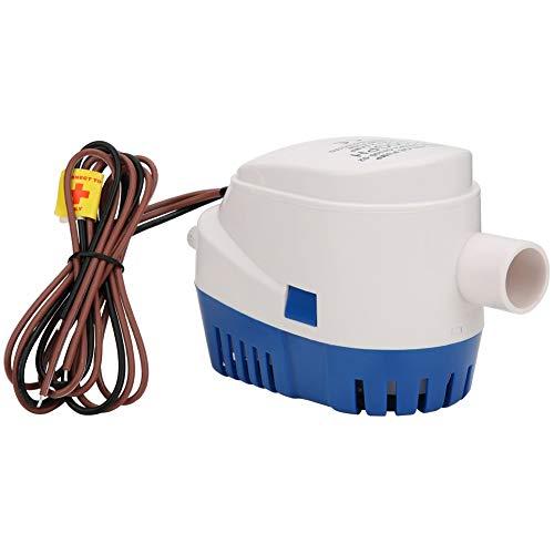 Bomba de agua de sentina de 24 V con sistema de interruptor de flotador incorporado para yate de agua Alcantarillado en miniatura Bomba sumergible automática de alto caudal autocebante Se adap