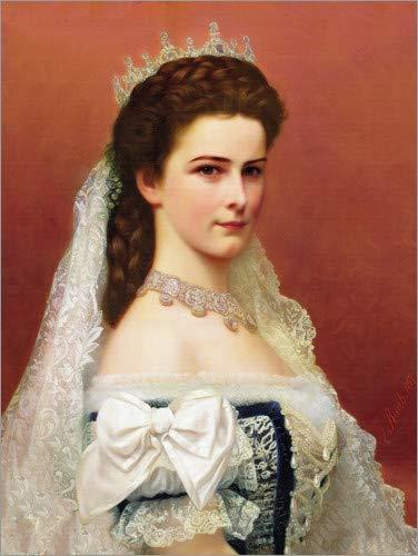 Posterlounge Leinwandbild 30 x 40 cm: Kaiserin Elisabeth von Österreich von Georg Raab/ARTOTHEK - fertiges Wandbild, Bild auf Keilrahmen, Fertigbild auf echter Leinwand, Leinwanddruck