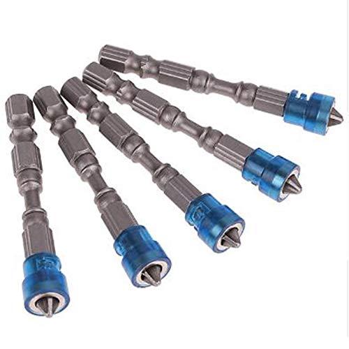 WOVELOT 5 Unids Destornillador Magnético de Cabeza única Broca Antideslizante Hex S2 Ph2 Juego de Destornilladores Eléctricos para Herramientas Eléctricas