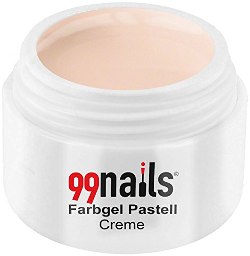 99nails Farbgel Pastell Creme UV Farb Gel Nägel Farb Gel, 1er Pack (1 x 5 ml)