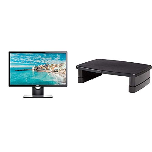 Dell SE2216H 21.5 inch LCD Monitor - (Black) 12 ms Response Time, Anti-Glare FHD (1920 x 1080 AT 60 Hz), Tilt, HDMI, VGA, 3 Year Warranty & AmazonBasics Adjustable Monitor Stand