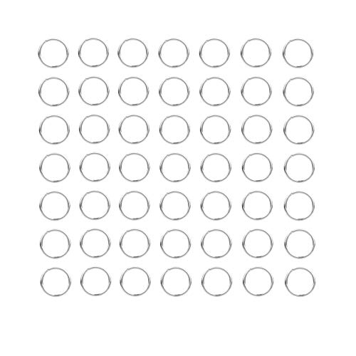 ANWANG 100 Pieces 10mm Open Jump Ring Metal Split Rings for Jewelry and Crafts Making Wind Chimes Costuming Ornaments (Silver)