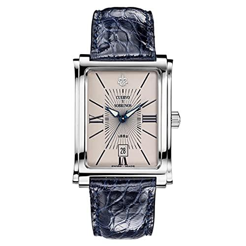 Reloj para hombre Cuervo y Sobrinos Prominente Clásico Azul