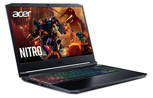 Acer Nitro 5 AN515-55-78F6 Ordinateur Portable Gaming 15.6' Full HD 144Hz, PC Portable Gamer (Intel Core i7-9750H, RAM 16Go, SSD 1To, NVIDIA GeForce RTX 2060 6Go, Clavier RGB 4 Zones, Windows 10) Noir