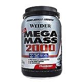Weider Mega Mass 2000 Sabor Fresa (1500 g). 67% de hidratos y 16% proteínas. Enriquecido con Vitaminas y Minerales. Con menos azúcares