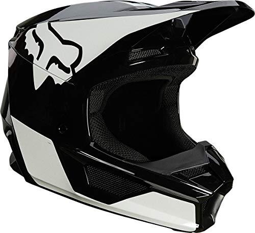 Fox V1 Revn Helmet 25819_018_L Casco da Moto, Unisex Adult, L, Nero/Bianco (Black/White)