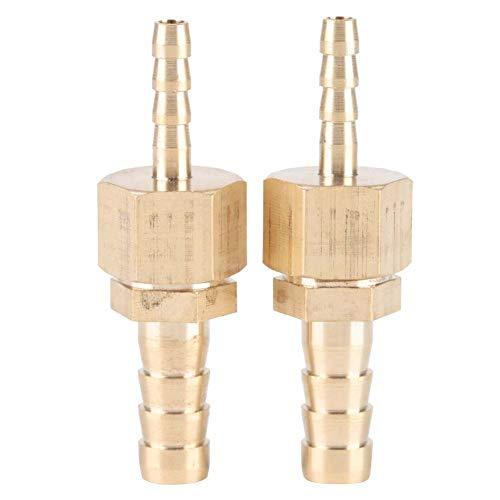 Broco 2pcs latón 4-8mm conexión de la manguera Barb Reductor Reducir la cola del conector enchufable
