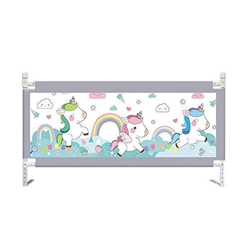 Bettgitter HUO for Kleinkinder Faltbares Baby Kids Sicherheitsbett Vertikale Daunenbett-Leitplanke 10 Gänge Können Eingestellt Werden (Color : B, Size : 180cm)