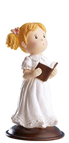 dekora Blister Figur in Form von Mädchen Tortenaufsatz für Taufe, Weiß, 13x 8x 6.5cm