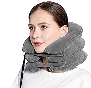 Inflatable Neck Traction Device, Cervical Traction Device for Neck, Neck Decompression, Posture Pump Neck, Pinched Nerve N...