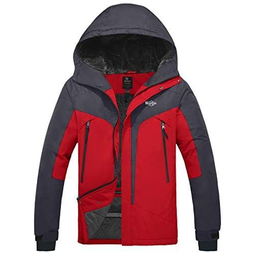 Wantdo Men's Waterproof Snowboarding Jacket Windproof Ski...