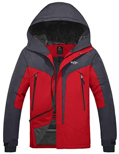Wantdo Men's Waterproof Rain Jacket Wind Resistant Short Parka Dark Grey XL