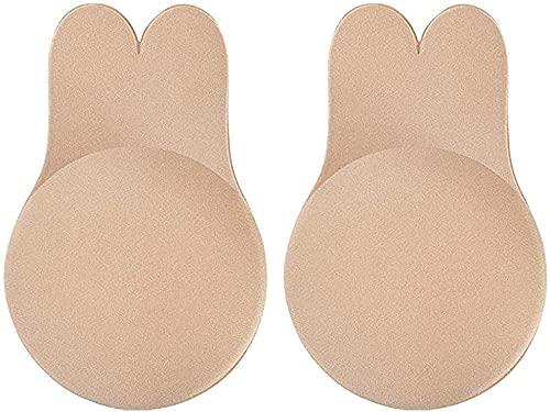 WELLQUA Push Up Breast Lift Cubierta de Pezón Pezoneras Mejorado Silicona Sujetadores Adhesivos Invisibles Reutilizable Pezón Levantamiento Cubierta (CD)