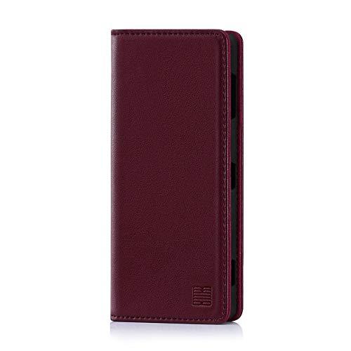 32nd Klassische Series - Lederhülle Hülle Cover für Sony Xperia XZ2 Premium, Echtleder Hülle Entwurf gemacht Mit Kartensteckplatz, Magnetisch & Standfuß - Burg&er