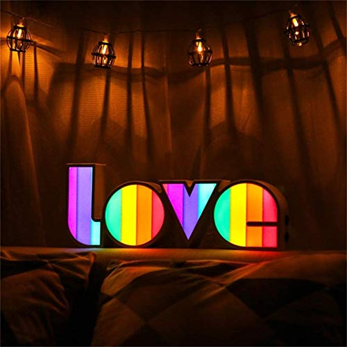 Love Led Alphabet Light, Confession Holiday Arrangement Letra Inglesa Led Night Light, para Fiesta, Dormitorio, Boda, CumpleañOs, DecoracióN NavideñA, Regalo C