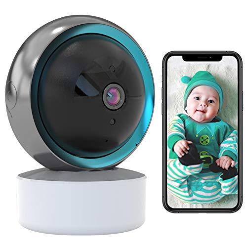 Baby Monitor,Camara Vigilancia Cámara de Seguridad WiFi 1080p Cámara de Vigilancia Compatible con Alexa,HD Vision nocturna,Seguimiento corporal,Alarma APP,Audio Bidireccional,iOS/Android 【Cámara】