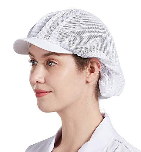 Nanxson Unisex Mesh Küchehut Haarnetz Staubhut atmungsaktive Hut Arbeitshut Industrial Staubdichter CF9046 (Weiß, 3)