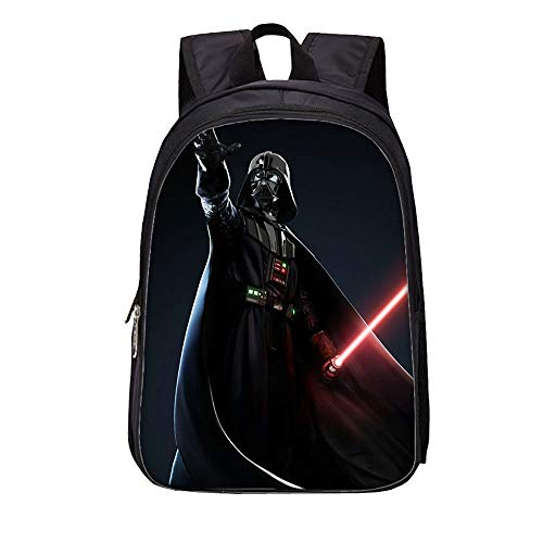 Star Wars Casual Backpack Western Style Schoolbag Waterproof Daypack Lightening Backpack for Boys and Girls for Boy and Girl (Color : A03, Size : 27 X 14 X 35cm)