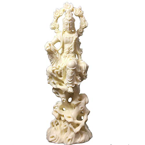 White Flame Guanyin Statue,Chinese Buddha Statue,Modern Art Sculpture,Home Living Room Loft Decorations Statuette