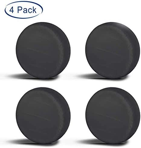 Aebitsry Tire Covers for RV Wheel, (4 Pack) Wheel Covers Waterproof Oxford Sun UV Tires Protector for Trailer, Camper,Universal Fits 24″ to 32″ Car Tire Diameter (Black, 27″-29″)