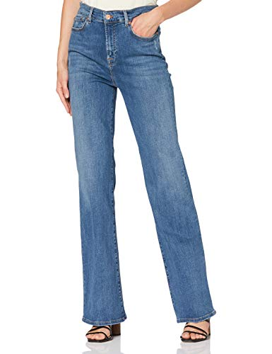7 For All Mankind Bootcut Jeans, Blu Medio, 25 Donna