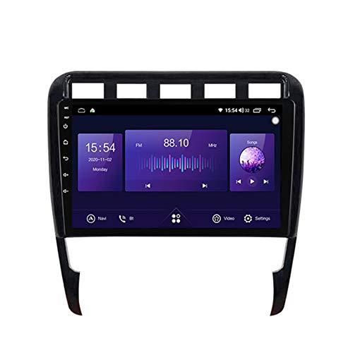 Radio 2 Din Autoradio Bluetooth Para Porsche Cayenne 2002-2010 Pantalla Táctil HD Soporte Estéreo Llamadas Manos Libres Bluetooth FM RDS Enlace Espejo Carplay(Incluida Cámara De Trasera),7862,4+64G