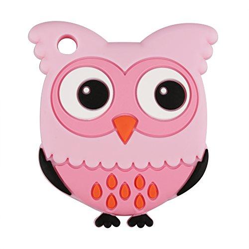 Beißringe Baby Zahnen Spielzeug Silikon BPA Free Weich Cute Eule Form Geschenk für Kleinkinder(Rosa)