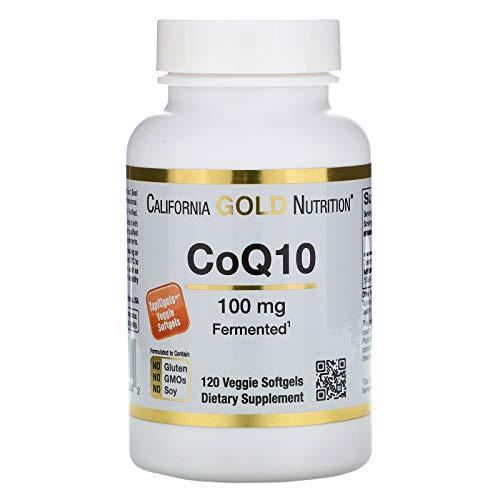 California Gold Nutrition CoQ10 100 mg 120 TapiOgels, Milk-Free, Egg-Free, Fish Free, Gluten-Free, Peanut Free, Treenut-Free, Preservative-Free, Shellfish Free, Salt-Free, Soy-Free, Sugar-Free, CGN