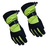 Ninbo Männer Frauen Wasserdichte Winter Schnee Handschuhe Kontrast Farbe Thermisch Isolierte Einstellbare Sport Radfahren Snowboard Handschuhe Handgelenkwärmer -