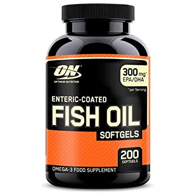 Optimum Nutrition ON Fish Oil, Enteric-coated Softgels with Vital Fatty Acids DHA and EPA, Omega 3 Food Supplement, Unflavoured, 200 Servings, 200 Capsules