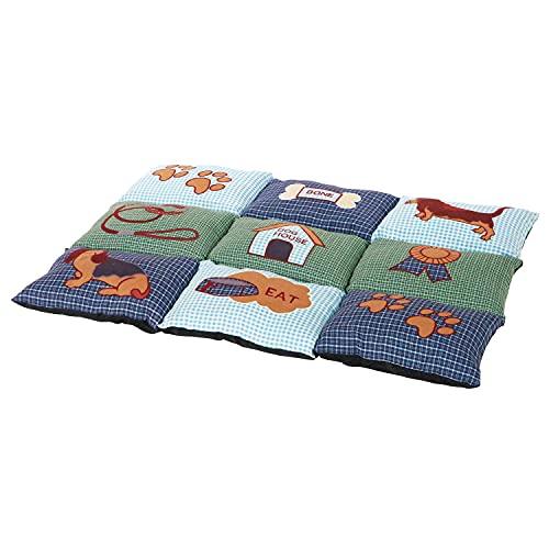 Trixie Patchwork Dog Blanket, 80 x 55 cm, Blue/Green