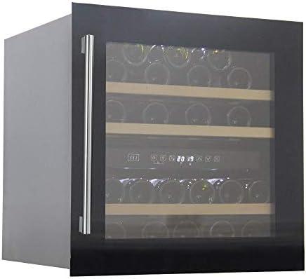 BOJ Vinoteca integrable en columna de 60cm W - 0595B 36 botellas en cristal negro (07112004)