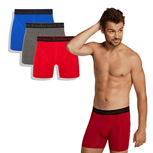 Bamboo Basics - Heren Perfect fit Boxershorts (3-pack) - Rico - Thermo - Zijdezacht en Hypoallergeen