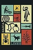 Nazca Lines Peru Geoglyph Monkey Astronaut Spider Retro Premium: Notebook Planner - 6x9 inch Daily Planner Journal, To Do List Notebook, Daily Organizer, 114 Pages