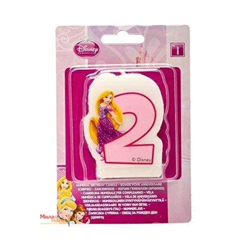 Disney Princesse et Animaux 2 ND Bougie d'anniversaire