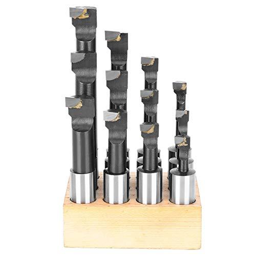 EVTSCAN - Juego de barras de mandrinar de 12 piezas, 3/4 pulgadas, tipo F1, de acero de alta velocidad, herramienta de torno CNC con base