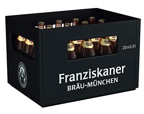Franziskaner Kellerbier Flaschenbier, MEHRWEG (20 x 0.5 l) im Kasten, Kellerbier aus München