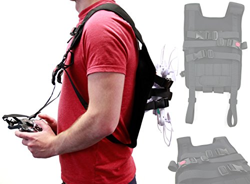 DURAGADGET Black Drone Carry Backpack with Safety Straps - Suitable for The Xiaomi Yi Erida Drone