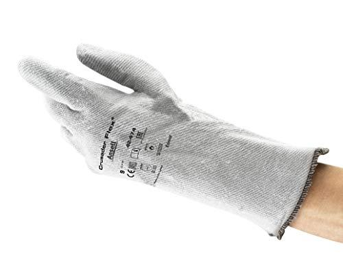 Ansell Crusader Flex 42-474 Guanti Termoresistenti, Per Usi Ppeciali nei Settori Industriale, Meccanico e Chimico, di Colore Grigio Taglia 10 (12 Paia)