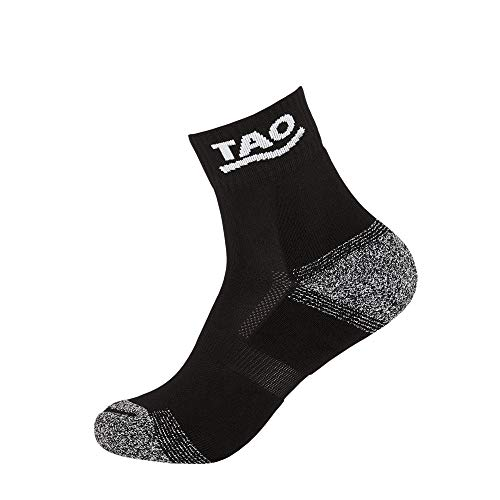 TAO Sportswear Atmungsaktive Funktionssocken Running Socks Black 39-42