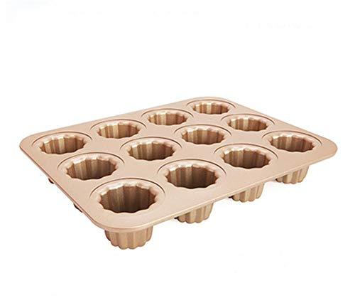 RENMEN Cocina Panadería Maffen Cup Cake Mould 12 Incluso Copa 30L 32L Horno Hogar Batidor antiadherente, wk9158