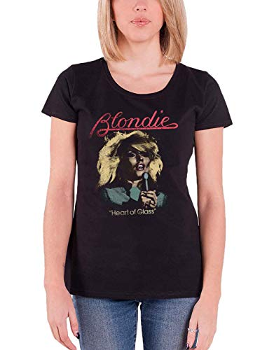 Ladies Blondie Heart of Glass Skinny Fit T-shirt, S to XL