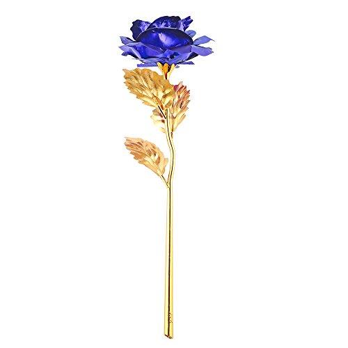 ACCEDE Flor de rosas artificiales doradas, regalo romántico para siempre en el día de la madre, día de San Valentín, cumpleaños, aniversario, día de Acción de Gracias, compromiso, esposa, mujer