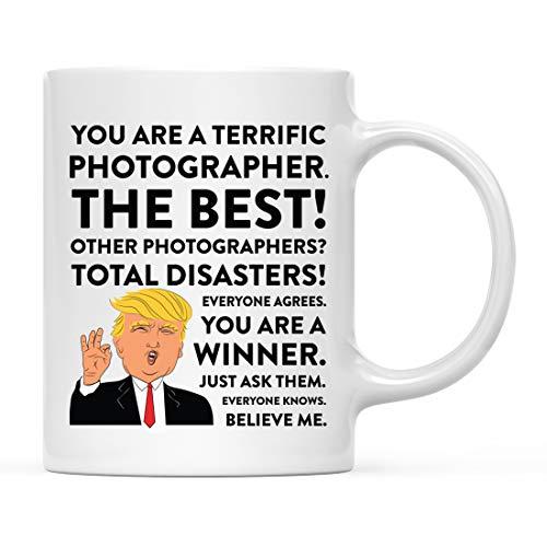 Andaz Press 11oz. Funny President Trump Coffee Mug Gag Gift, Photographer, 1-Pack, Includes Gift Box, Christmas Birthday Graduation Novelty Drinking Cup Gift Ideas