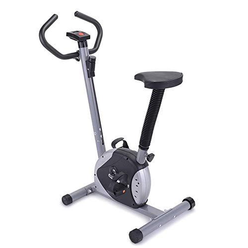 ZJZ Bicicleta estática, Equipo de Fitness para Interiores, Entrenador de Ciclo de Gimnasio Vertical estacionario para Entrenamiento en casa y Cardio con Monitor LCD